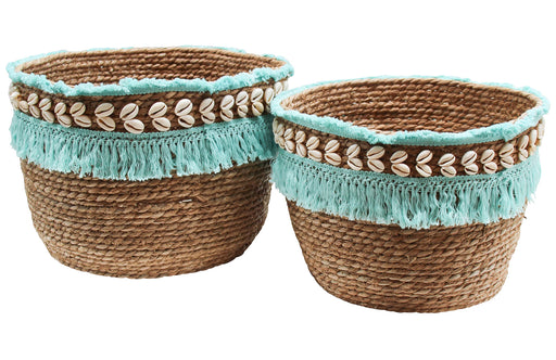 Seagrass Baskets Aqua
