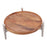 Nickle and timber cake stand