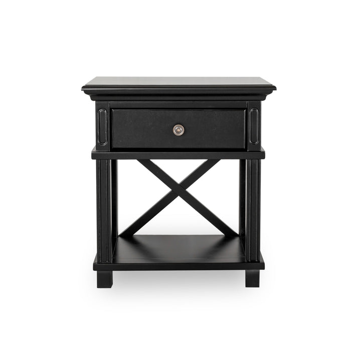 Hampton Black Bedside Table
