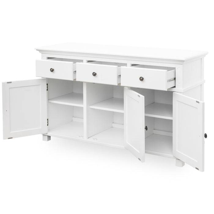 Sorrento White 3 Drawer Buffet