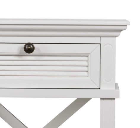 West Beach White Bedside Table