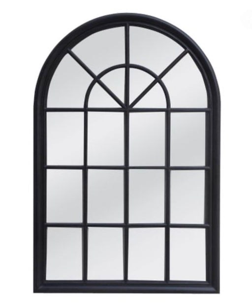 Hamptons Black Arch Mirror