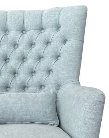 Hampton Duck Egg Wingback Armchair