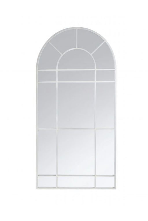 Tall White Arch Mirror