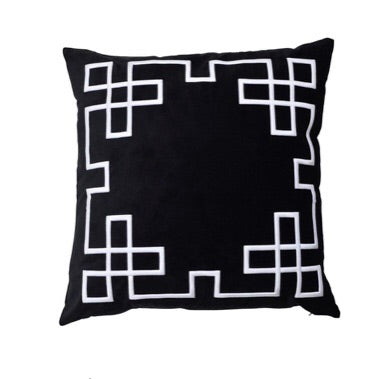Palm Springs Black Cushion Cover