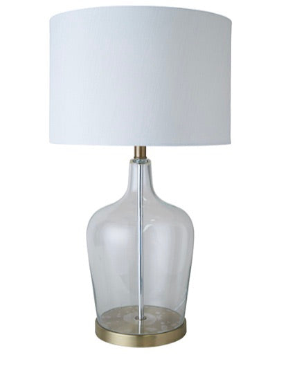 Palm Beach Glass Brass Lamp