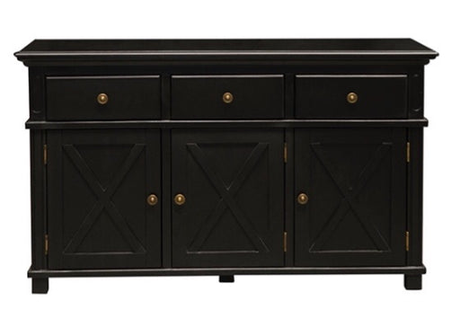 Sorrento Black 3 Drawer Buffet
