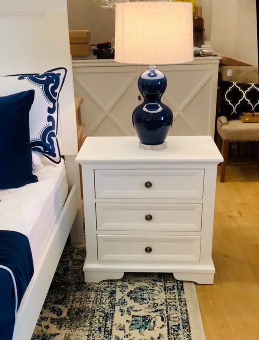 Sorrento 3 Drawer Bedside Table