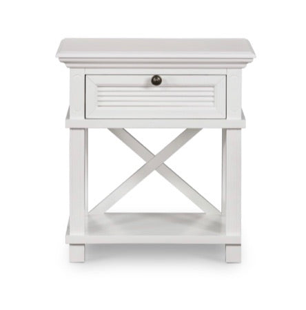 Palm Beach White Bedside Table
