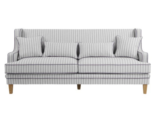 Hudson Blue Stripe 3 Seater Sofa