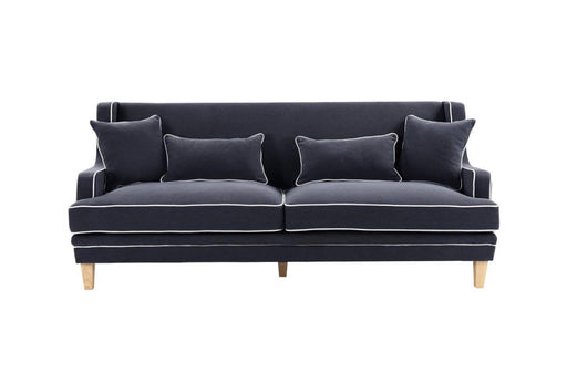 Hudson Navy 3 Seater Sofa