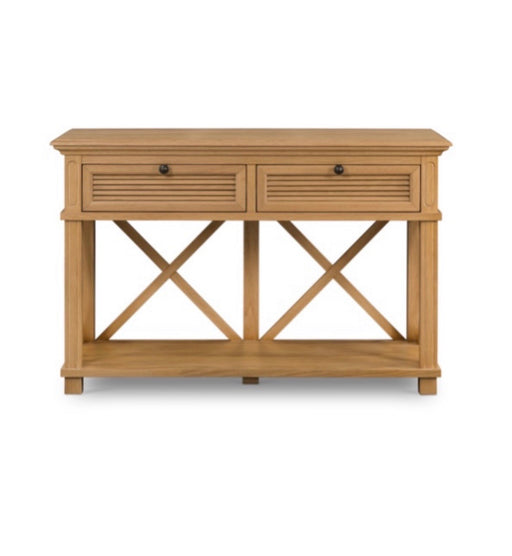 West Beach Natural 2 Drawer Console