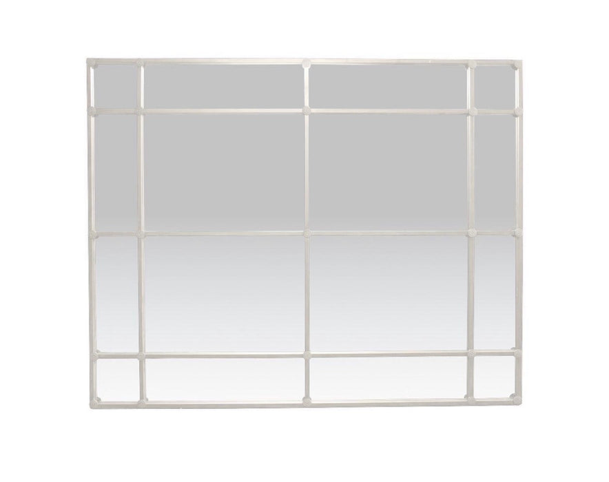 Rectangular White 16 Pane mirror