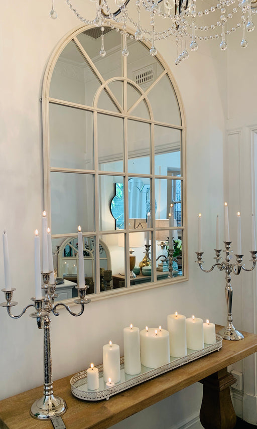 Cream Iron Arch Mirror