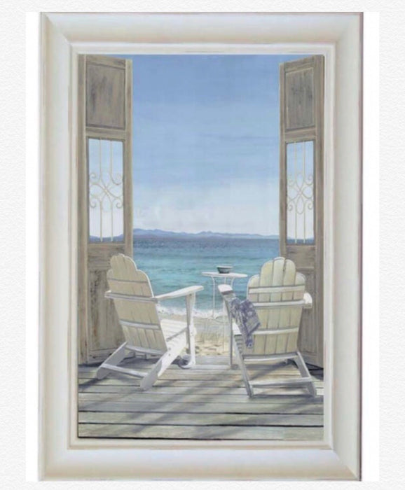 Hamptons Beach Window Print