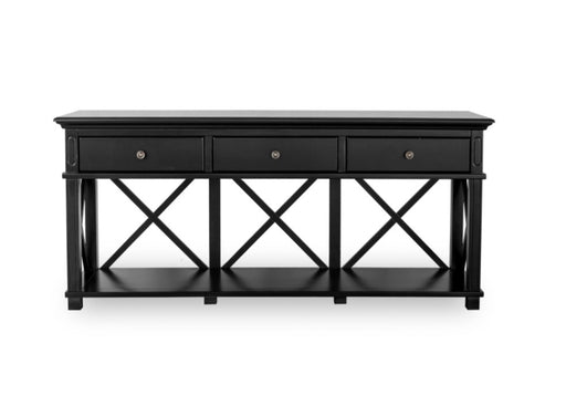 Hampton Black 3 Drawer Console