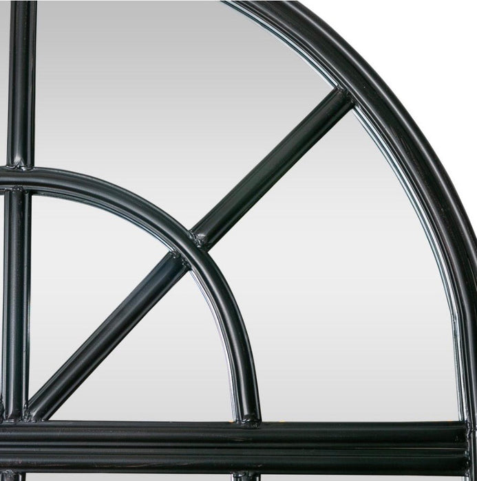 Black Iron Arch Mirror Large
