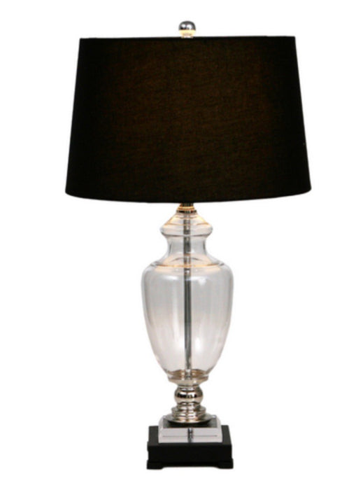 Glass Lamp with Black Shaw