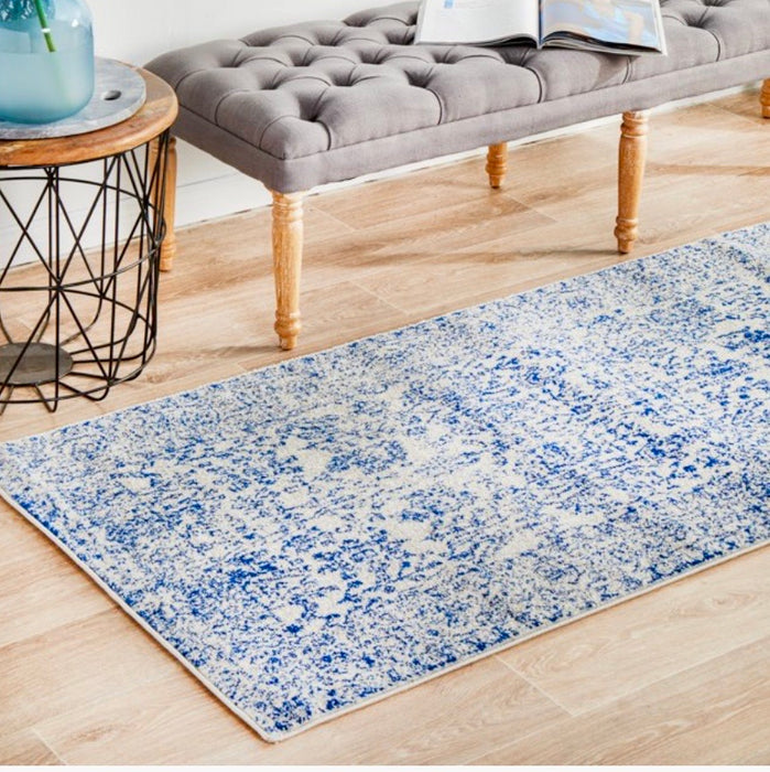 Hamptons Blue White Rug