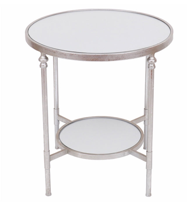 Mirrored Silver Side Table