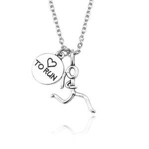 Inspiring Runner Girl Necklace