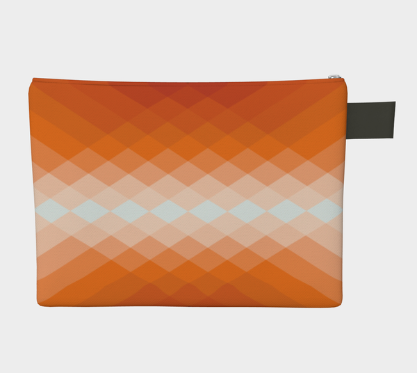 ZIPPERPOUCH geometric - orange