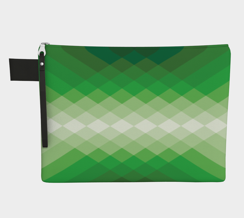 ZIPPERPOUCH geometric - green