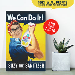 PERSONALIZE! Suzy The Sanitizer Canvas various sizes - FREE Shipping