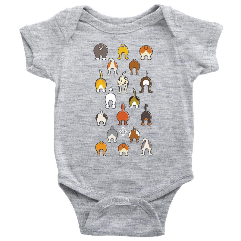 Happy Tails Baby Short Sleeve Bodysuit - NB-24m