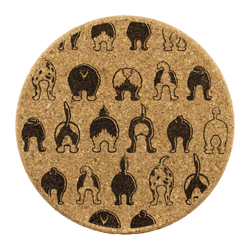 Happy Tails Cork Coasters - Set of 4