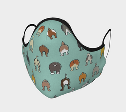 Happy Tails Face Mask - Aqua