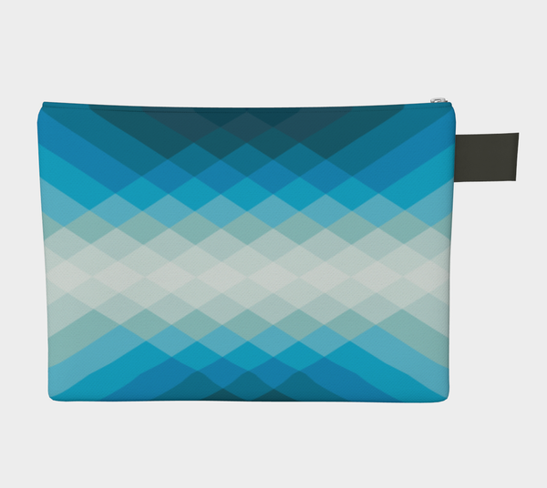 ZIPPERPOUCH geometric - blue
