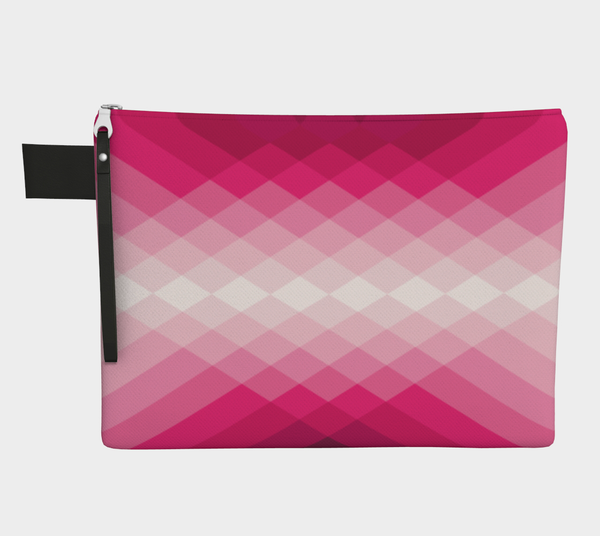 ZIPPERPOUCH geometric - pink