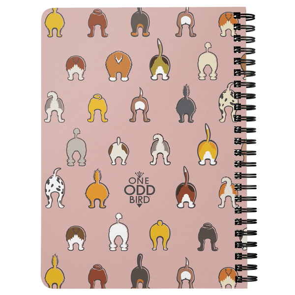 Happy Tails Lined Spiral Notebook - Blush
