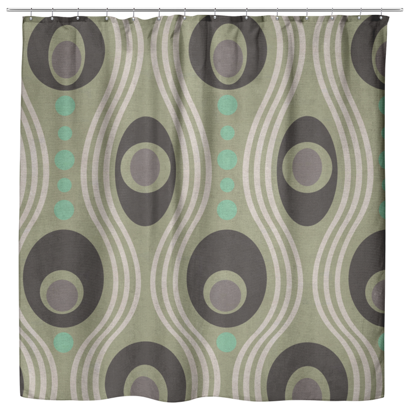 Wavo Oxford Cloth Shower Curtain - Minty Fresh