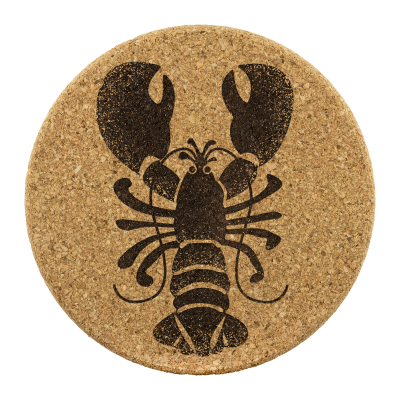 Rock Lobster Cork Coasters - Set of 4
