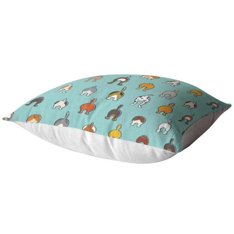 Happy Tails Pillow - Aqua