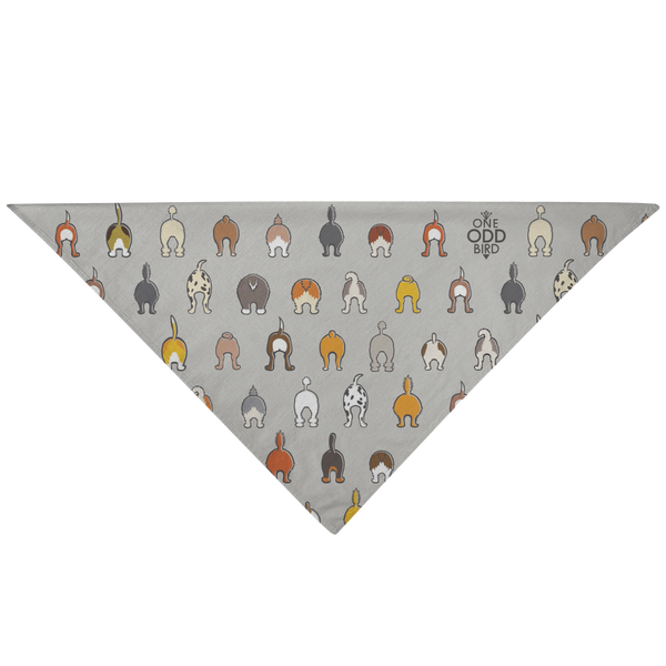 Happy Tails Dog Bandana - Gray