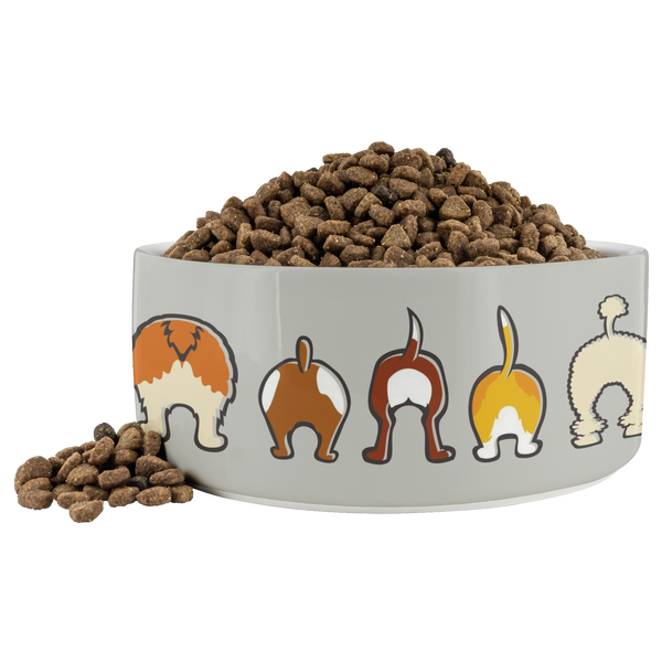 Happy Tails Dog Bowl - Gray