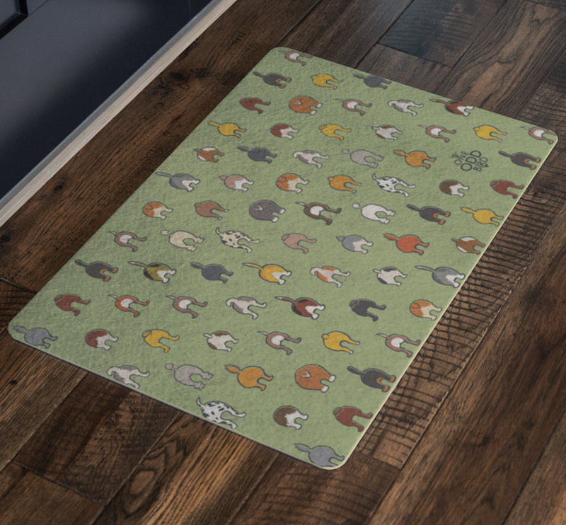 Happy Tails Dog Mat - Available in 4 colors