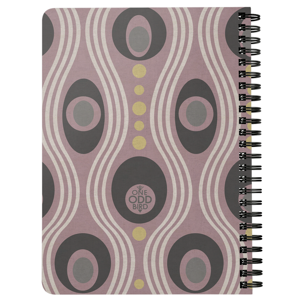 Wavo Lined Spiral Notebook - Lavender