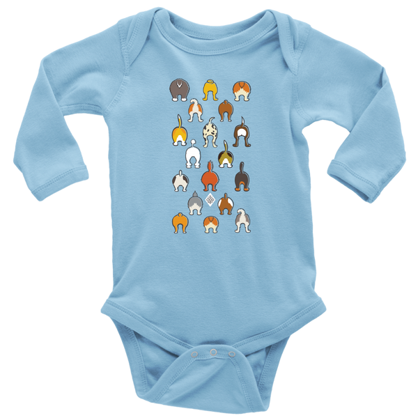 Happy Tails Baby Long Sleeve Bodysuit - NB-18m