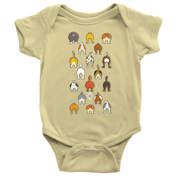 Happy Tails Baby Short Sleeve Bodysuit