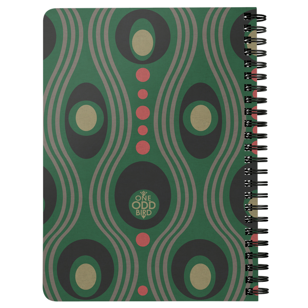 Wavo Lined Spiral Notebook - Grassy Green