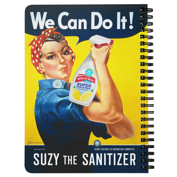 Suzy The Sanitizer Lined Journal - FREE Shipping
