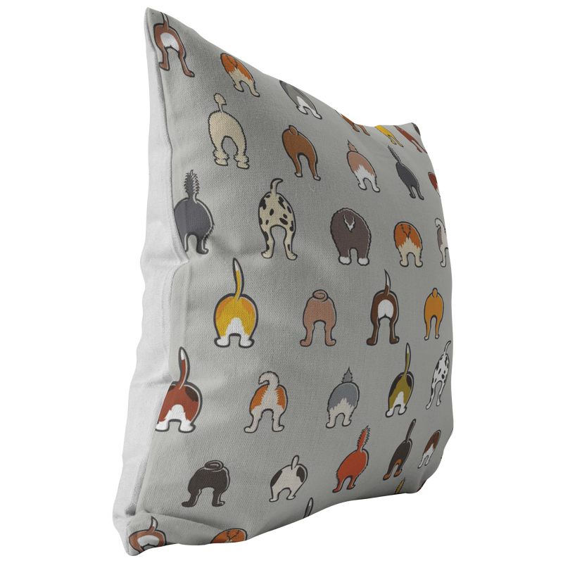 Happy Tails Pillow - Gray