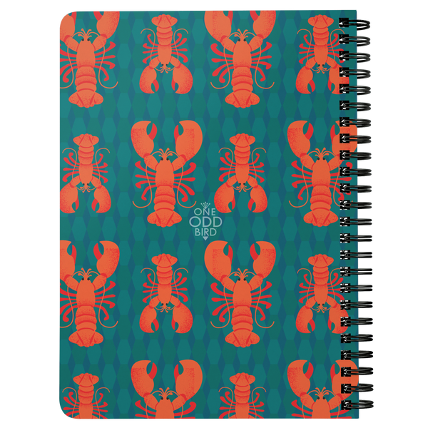 Rock Lobster Lined Spiral Notebook
