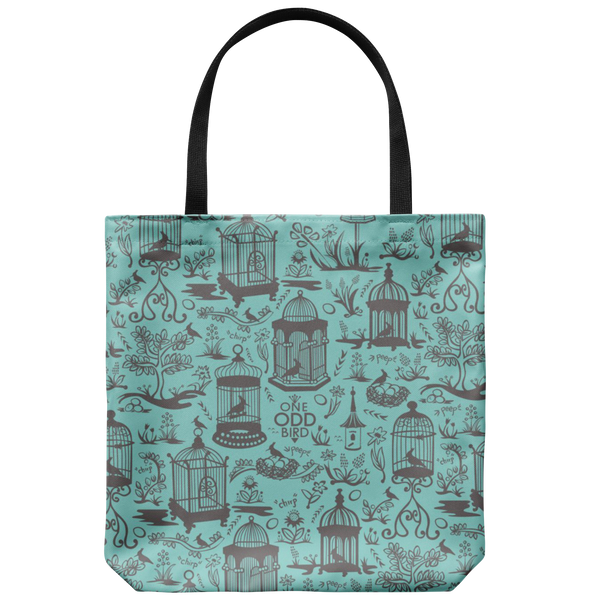 Bird Cage Toile Tote Bag