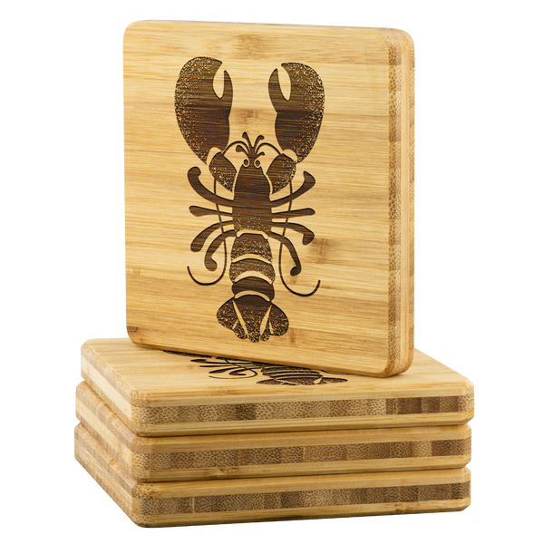 Rock Lobster Bamboo Coasters - Set of 4