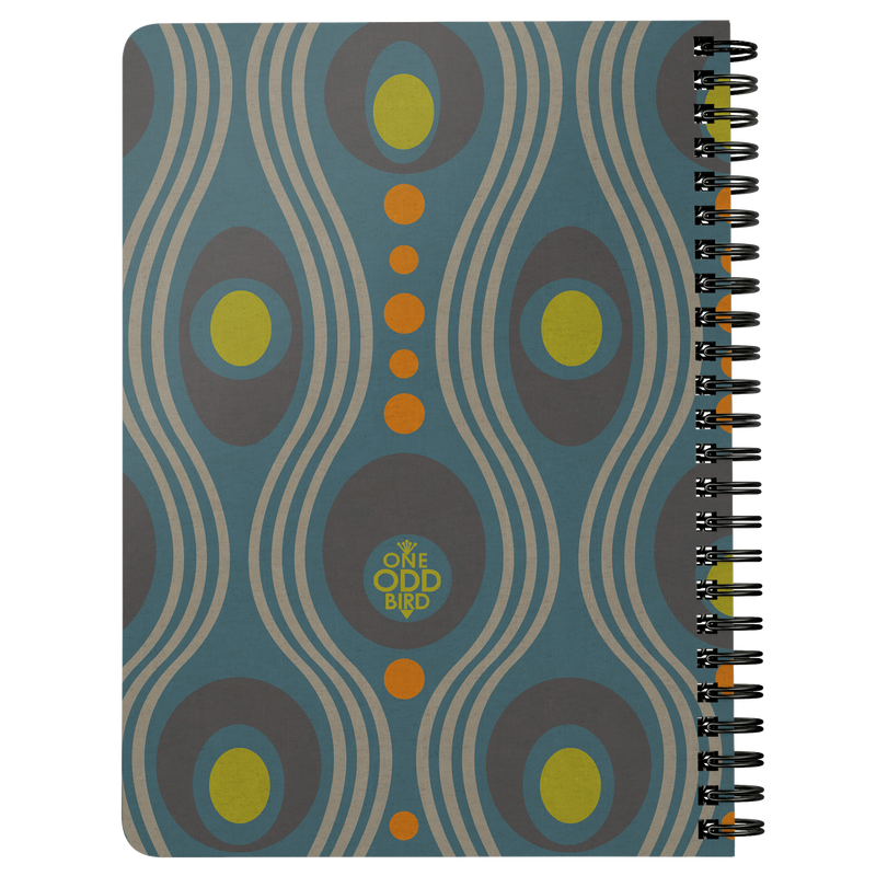 Wavo Lined Spiral Notebook - Steely Blue